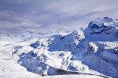 Purple winter landscape — Stock Photo