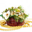 Christmas decoration basket — Stock Photo #13514537