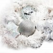 Christmas background with decorations — Stock Photo