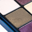 Eye shadows with gloss close view — Stock Photo