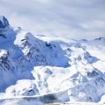 Beautiful winter snow landscape in Switzerland — Stock Photo