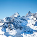 Alpine hills in snow in February — Stock Photo