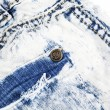 Jeans pocket with metal rivet — Stock Photo