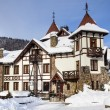 Winter castle in Carpathians — Stockfoto