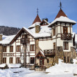 Winter castle in Carpathians — Stock Photo