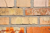 Turuncu ve sarı tuğla duvar dokusu arka plan — Stok fotoğraf