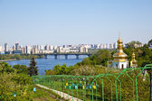 Kiev Pechersk Lavra monastery and Dnieper river — Stock Photo
