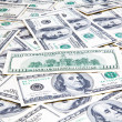 American hundred dollars banknotes background — Stock Photo