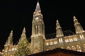 Vienna City Hall at Christmas — Stock fotografie