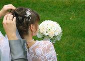 Groom and bride — Stockfoto