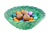 Chocolate eggs — Stock Photo