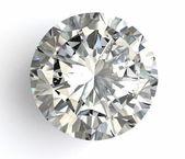Diamante sobre fondo blanco con alta calidad — Foto de Stock