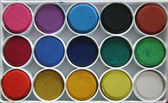 Art studio paints — Stock Photo