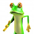 Super frog , funny frog , crazy frog , hero frog — Stock Photo