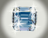 Diamond on white background with high quality — Stock Photo