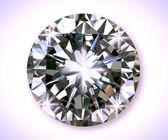 Diamante sobre fundo branco, com alta qualidade — Foto Stock