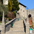 Castelmonte  sanctuary staircase, Cividale del Friuli. Udine, It - Stock Photo