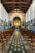 Castelmonte sanctuary - church interior — Stock Photo
