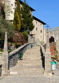 Castelmonte sanctuary staircase, Cividale del Friuli. Udine, It — Stock Photo