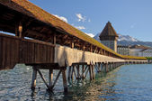 Lucerne Chapel bridge. — Stock Photo