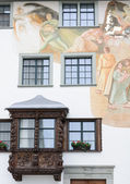 Typical architectural facade in St. Gallen — Stock Photo