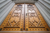 Church wooden door — Stock Photo