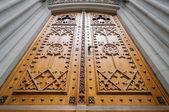 Church wooden door — Stock Photo