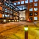 Modern architecture in Zurich at night — Stock Photo