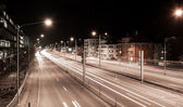 Traffic trails at night — Stock Photo