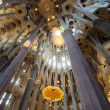 Stock Photo: SagradFamilicathedral interior architecture