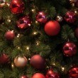 Christmas tree red decorations — Stock Photo #16317477