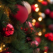 Christmas tree red decorations — Stock Photo #16317889