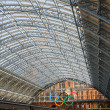 Stock Photo: St. Pancras Railway station during Olimpic Games. London.