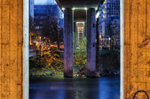 Bridge Piers by night — Stock Photo