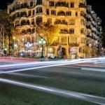 La Pedrera (Casa Mila) by night in Barcelona, Spain. — Stock Photo #46837663