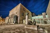 Kunstmuseum in Zurich by night. Switzerland. — Stock Photo