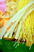 Various uncooked pasta — Stock Photo