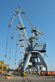Shipyard in galati, romania — Stock Photo