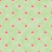 Seamless Damask & Roses Pattern — Stock Photo