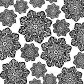 Black & White Floral Batik — Stock Photo