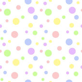 Seamless Pastel Multi Polka Dot — Stockfoto