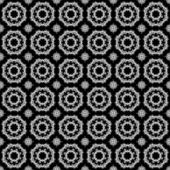Seamless Lace Medallions on Black — Foto Stock