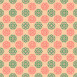 Stock Photo: Pink & Green Floral Medallions