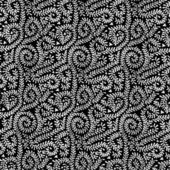 White on Black Vine Pattern — Stock Photo