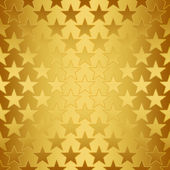 Seamless Gold Stars on Bright Gold — Stock Photo