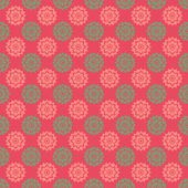Pink & Green Floral Medallions — Stock Photo