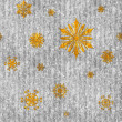 Stock Photo: Seamless Gold Snowflakes on Sparkly Silver Stripe