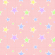 Seamless Pastel Star Pattern - Stock Photo