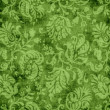 Stock Photo: Vintage Green Floral Tapestry