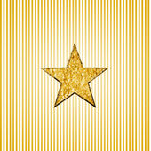 Estrela de ouro, em listras — Foto Stock